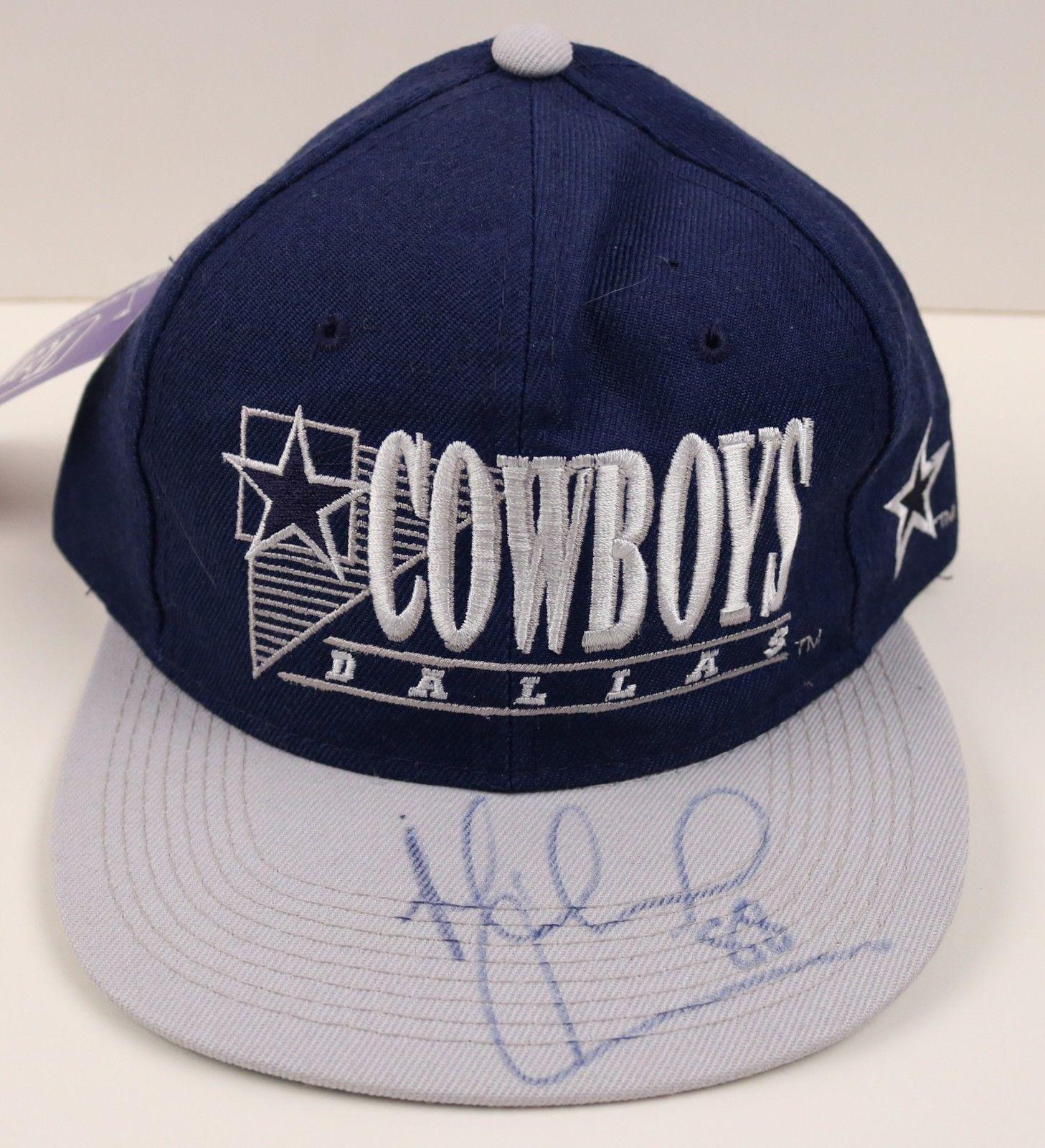 Michael Irvin Cowboys HOF Signed Team NFL Hat COA JSA Certified Autographed NFL Hats
