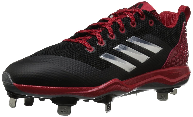 competitive price 70ece e9512 Amazon.com  adidas Mens Freak X Carbon Mid Baseball Shoe, BlackMetallic  SilverPower RED, 17 Medium US  Baseball  Softball