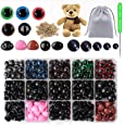 Plastic Safety Eyes and Noses with Washers 560PCS, Animal Safety Eyes, Teddy Bear Eyes and Noses for Craft, Crochet, Stuffed Animals