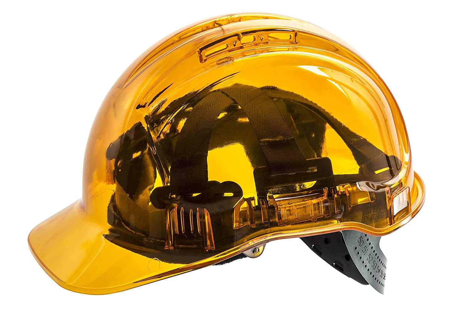 Portwest PV50BLU Series PV50 Peak View Translucent Hard Hat Helmet, Regular, Blue Portwest Clothing Ltd