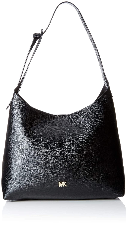 c2fb752244dd MICHAEL Michael Kors Junie Medium Leather Shoulder Bag - Black: Handbags:  Amazon.com
