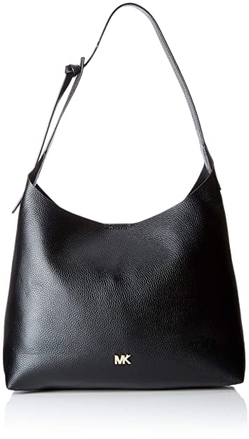 0ec3cc7d03 MICHAEL Michael Kors Junie Medium Leather Shoulder Bag - Black ...