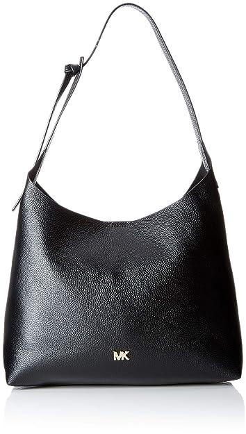 88de68a331 MICHAEL Michael Kors Junie Medium Leather Shoulder Bag - Black ...