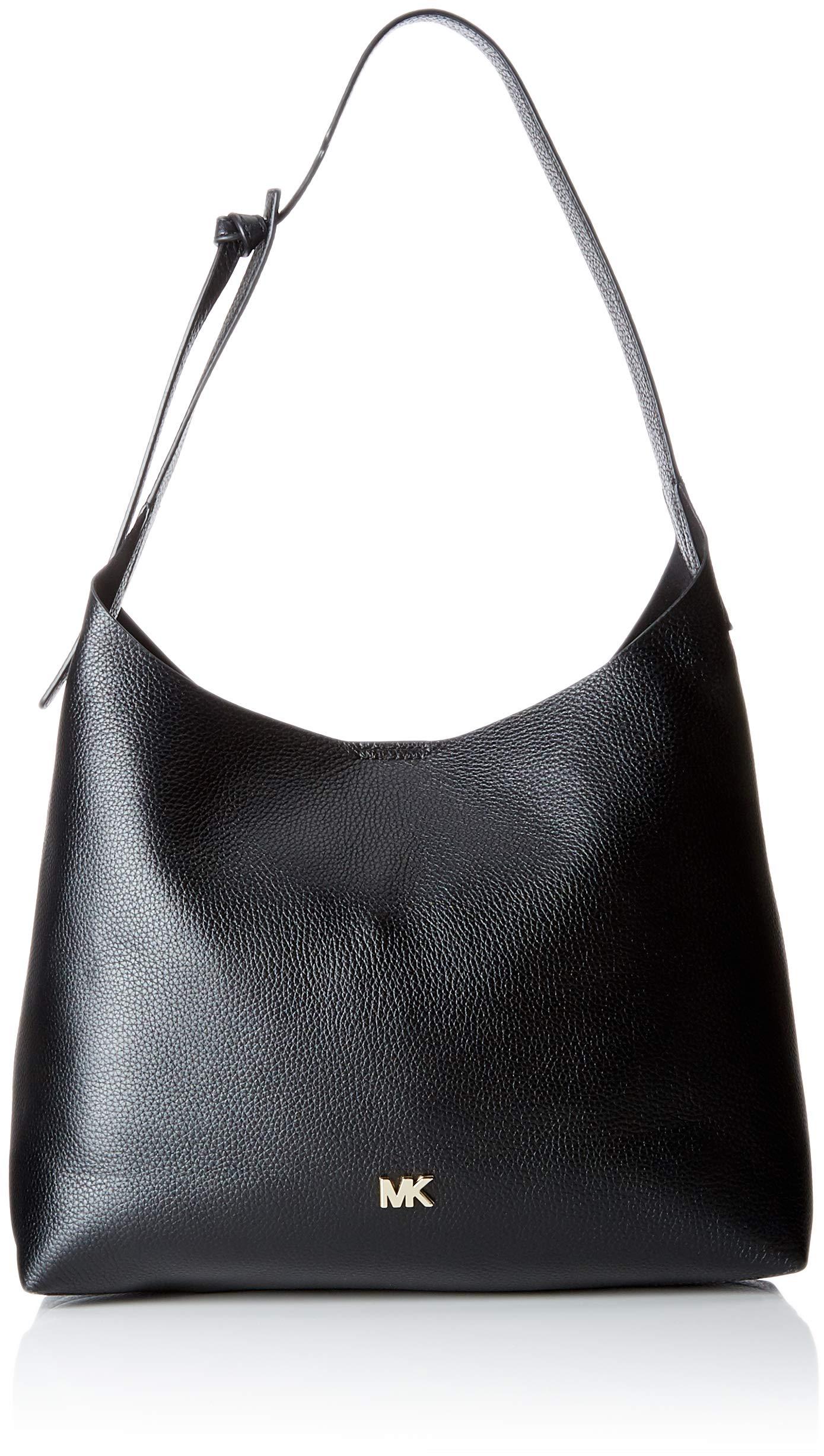 MICHAEL Michael Kors Junie Medium Leather Shoulder Bag - Black