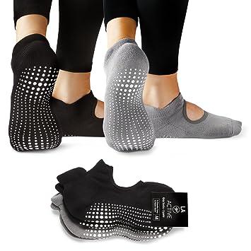 LA Active Calcetines Antideslizantes - Yoga Pilates Barre - Ballet ...
