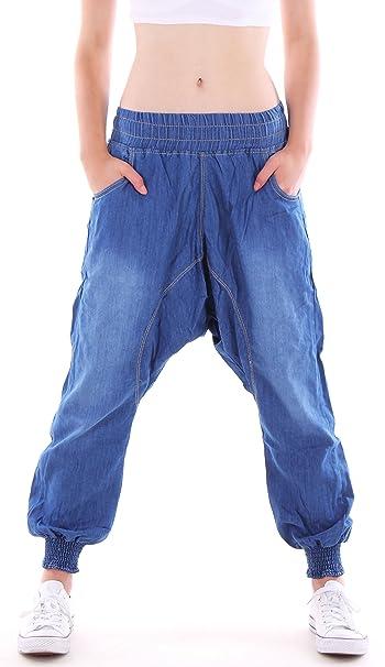 Style-Station24 Mujer Aladin Jeans, Pantalones, Harén, Boyfriend Cadera Pantalones, Baggy Pantalones, Baggy