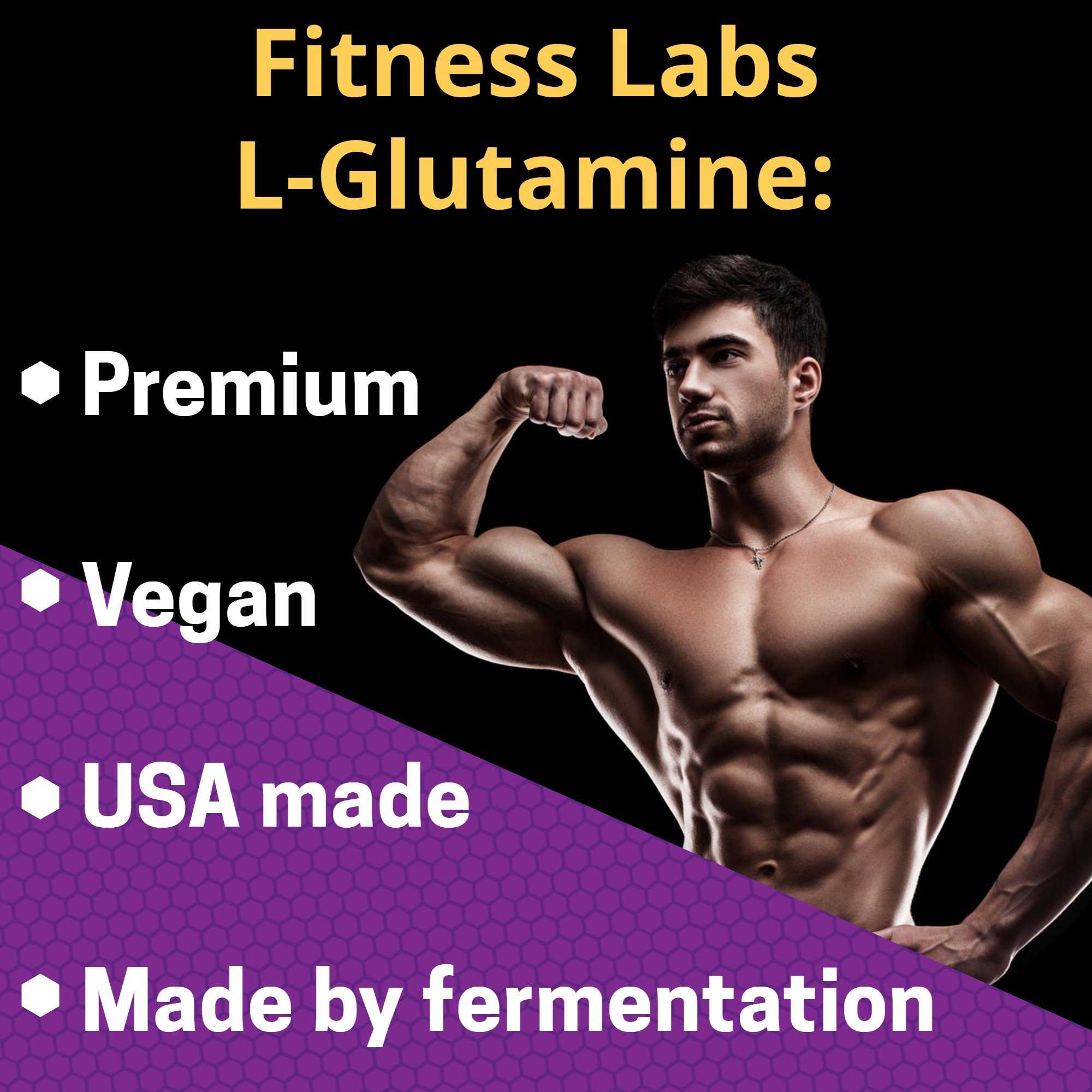 Fitness Labs Creatine and L-Glutamine, 1000 Grams