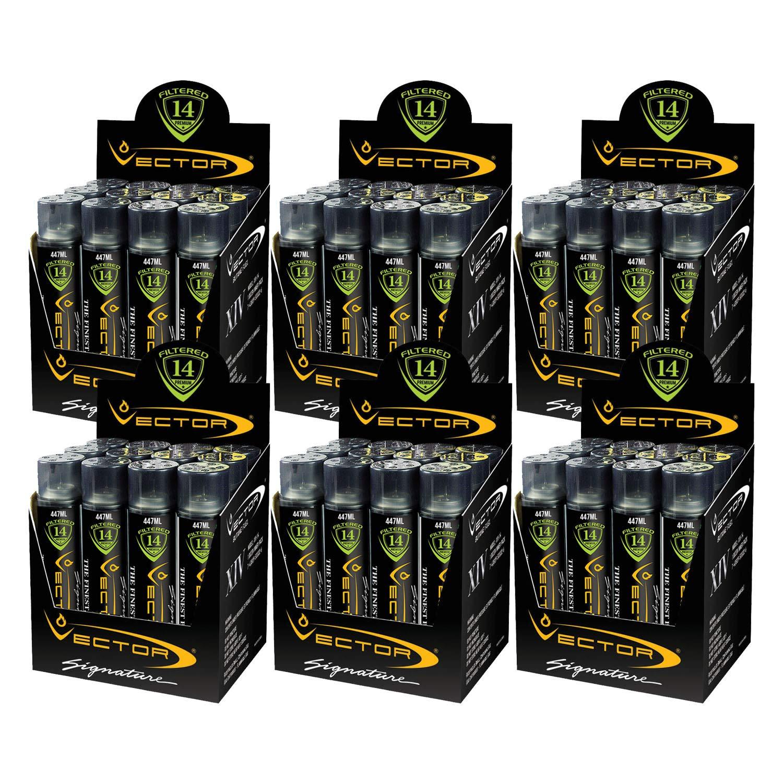 Vector 14x Filtered Premium Butane Gas-V250 - Jumbo 447 mL - 72 Pack