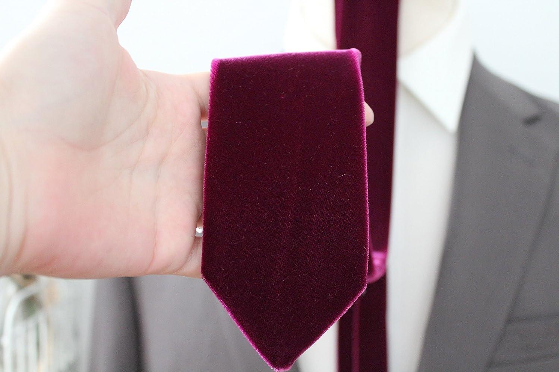 Lush Plum Velvet Neck Tie by Handsome&Lace