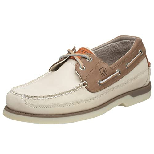 Sperry Top-Sider Mens Mako 2 Eye Boat Shoe,Oyster/Taupe,8