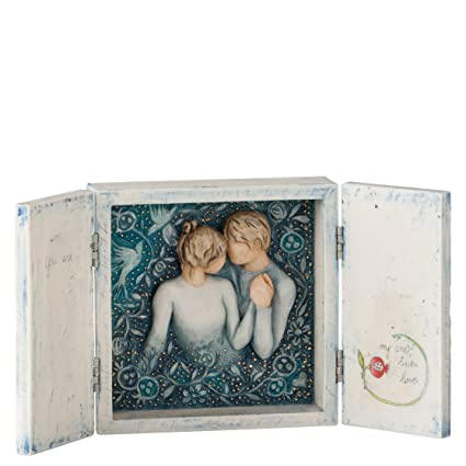 Willow Tree Signature Duet Our Love Song Triptych Hinged Box Figurine 27539  New Gallery