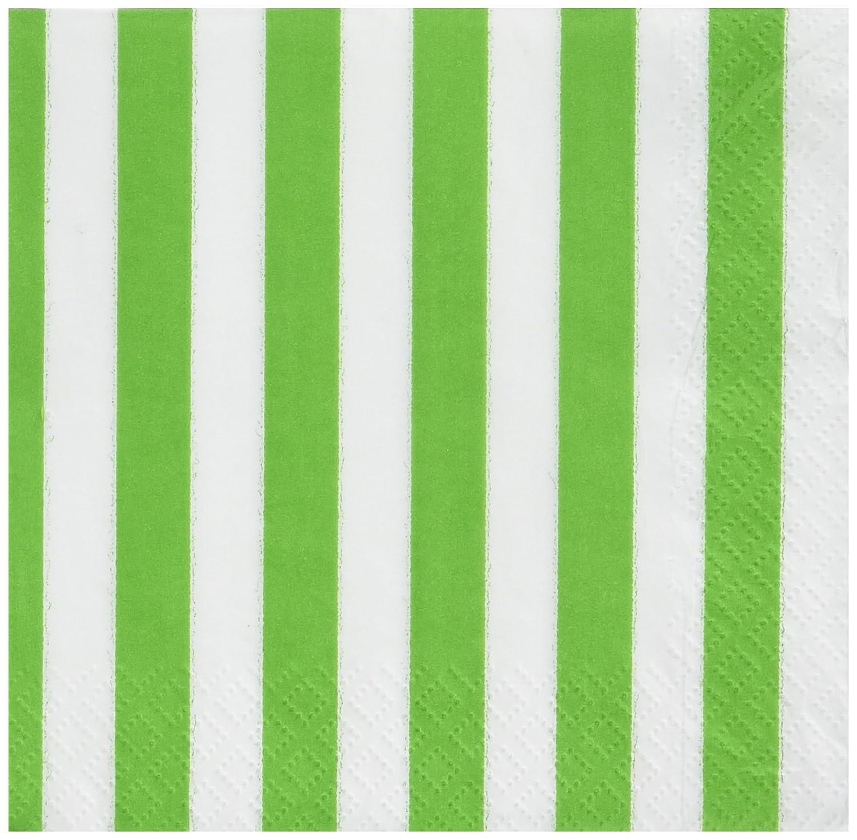 Lime Green Stripe Beverage Napkins ライムグリーンのストライプ飲料ナプキンハロウィンクリスマス B00MY8O08E  ビバレッジナプキン