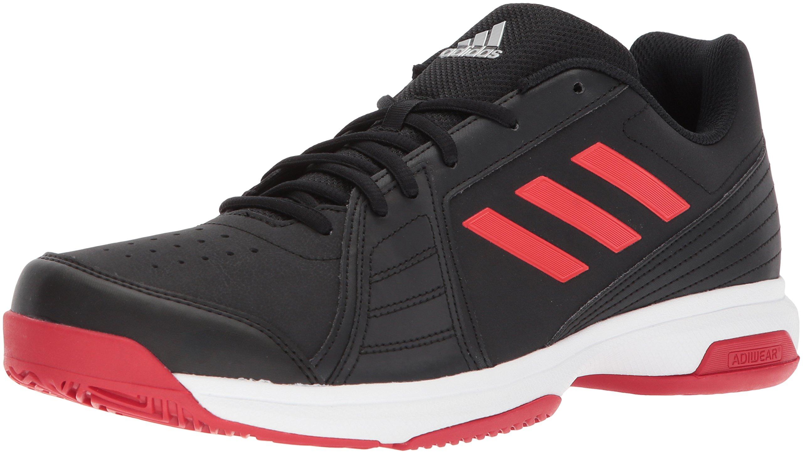adidas Men's Approach Tennis Shoe, Core Black/Scarlet/White, 11.5 M US