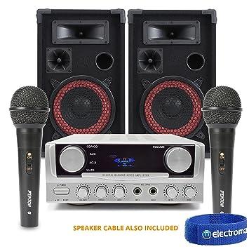 """Amplificador de altavoces de Fiesta y karaoke con micrófonos xen8 """"casa cantando ..."""