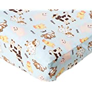 Trend Lab Changing Pad Cover, Baby Barnyard