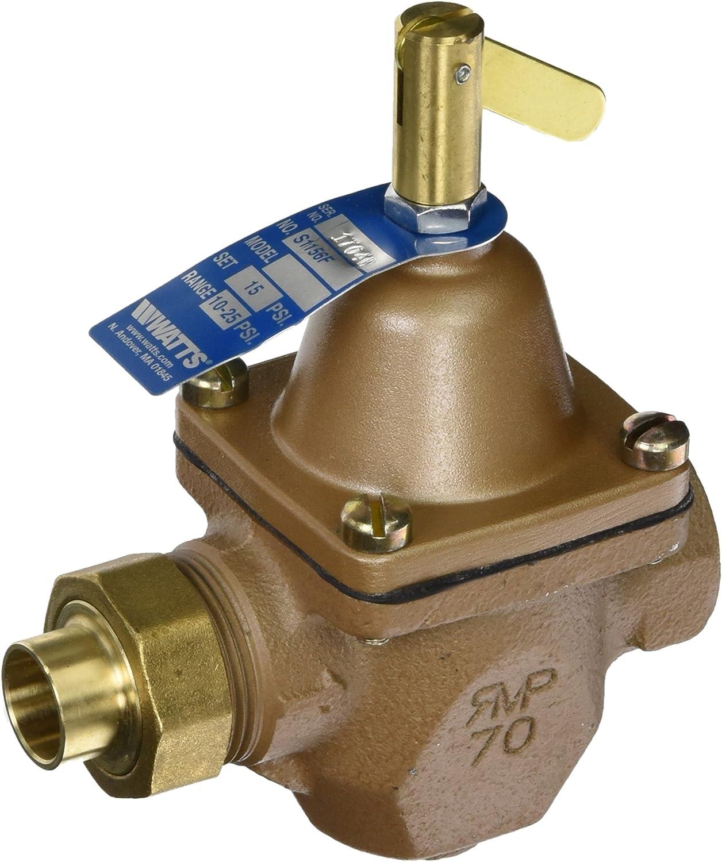 Watts Brass /& Tubular S1156F 1//2 1//2 Boil WTR Regulator