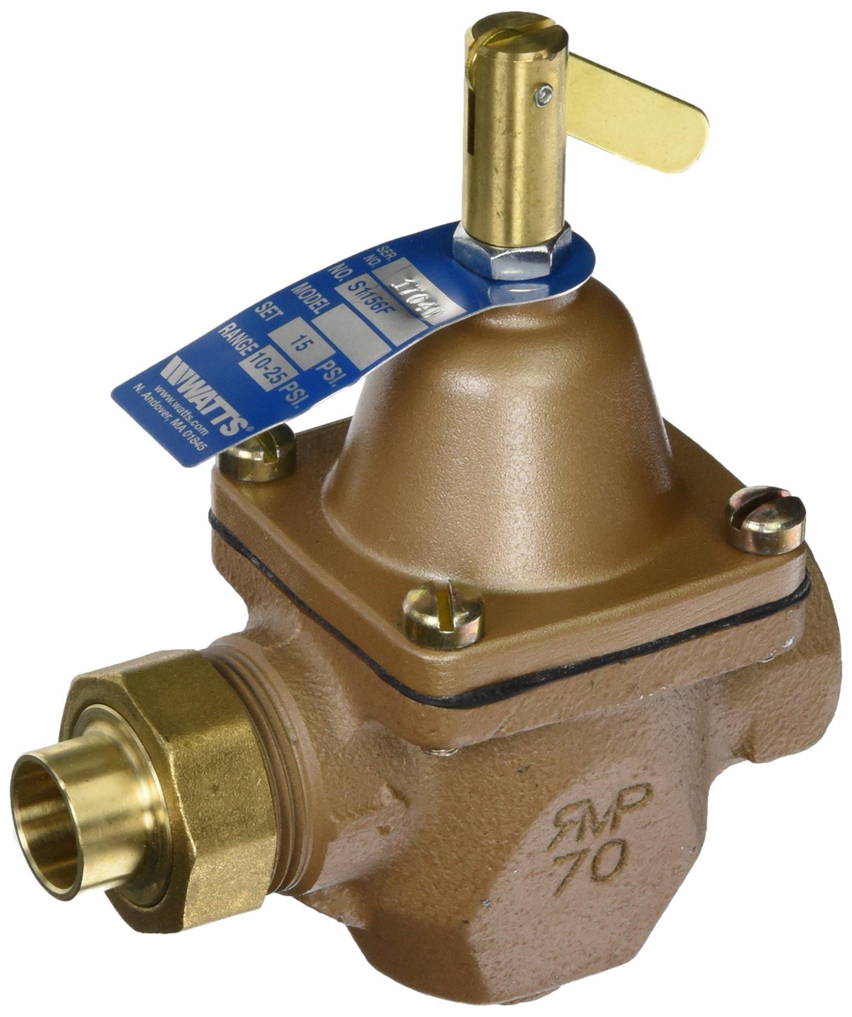 Watts SB1156F High Capacity Feed Water Pressure Regulators, 1/2 in. (15mm), Bronze, 1