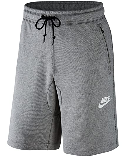 the best attitude 34531 678d2 Amazon.com  NIKE Mens AV15 Fleece Sweat Shorts Dark Grey Heather Black  803672-064 Size Medium  Sports   Outdoors