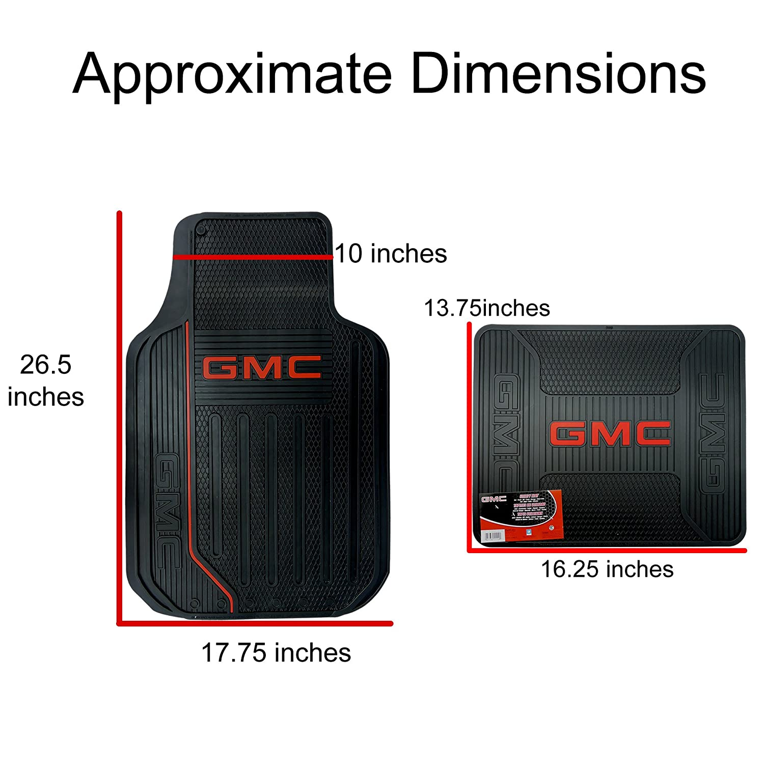 Rubber floor mats gmc terrain - Amazon Com Gmc Logo Elite Series Front Rear Car Truck Suv Seat Rubber Floor Mats Automotive
