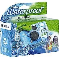 Fujifilm Quick Snap Waterproof 35mm Camera 800 Film, Blue/Green/White