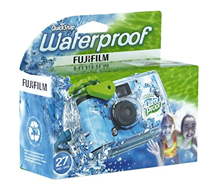 Fujifilm Quick Snap Waterproof 27 Exp 35mm Camera 800 FilmBlue Green