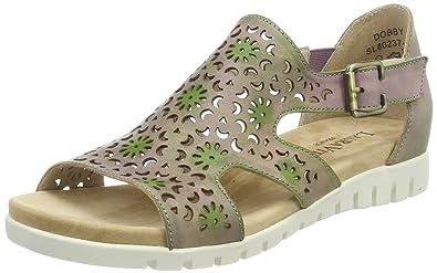 5fd676e9dcc6 Laura Vita Women Dobby 01 Heels Sandals Grey Size  3 UK