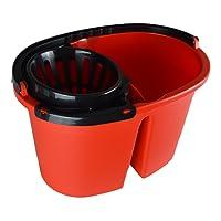 Clean Double XL deux Chambre Poubelle pour serpillère, 16liter XL avec roulettes, Seau de serpillière pour toujours eau fraiche Putz, essorage sans se pencher. Sans BPA. Fabriqué en UE