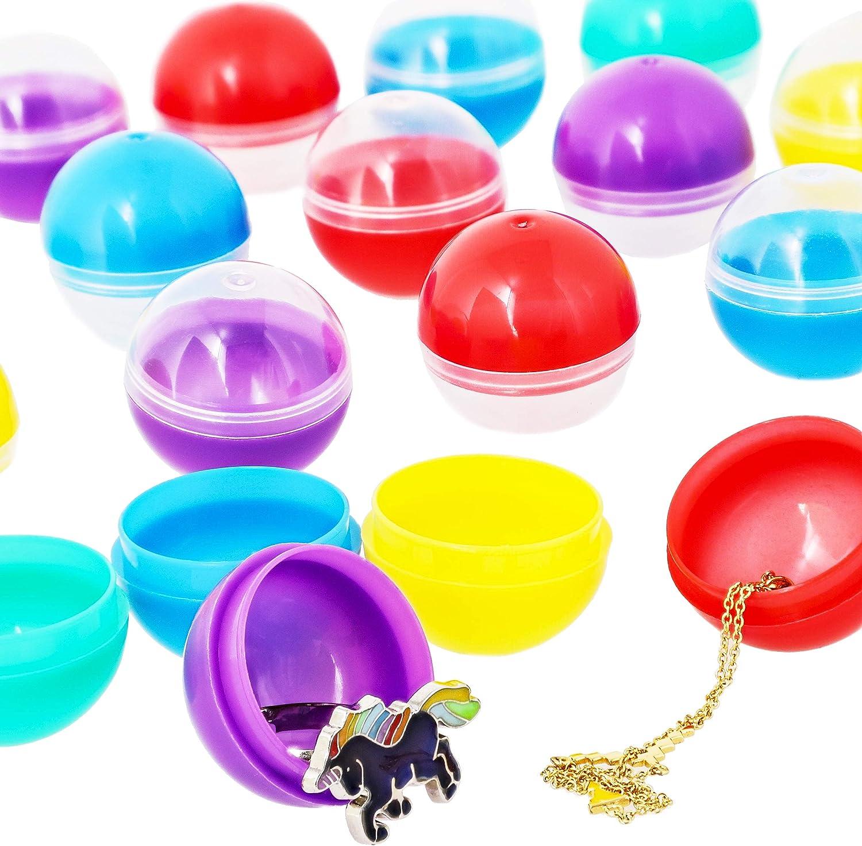 Juvale 250 unidades de cápsulas redondas de 1 pulgada para máquina expendedora de bolas de goma, 5 colores