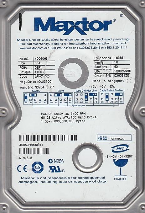 Amazon.com: Maxtor 4D060H3 60GB, 5400RPM, IDE Internal Hard ...