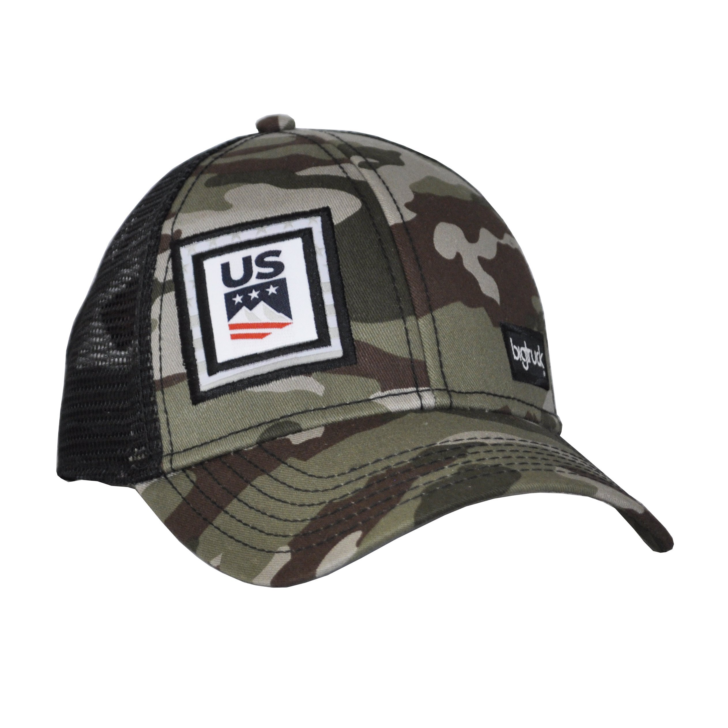 bigtruck U.S. Ski Team Classic Trucker Hat, Camo, Adult