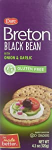 Breton No Gluten Black Bean With Onion and Garlic 4.20 Ounces (Case of 6)