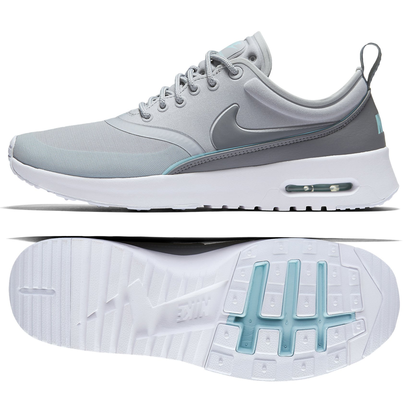 best website d6037 8ef40 Galleon - NIKE W Air Max Thea Ultra 844926-002 Grey Copa Blue Tint Mesh  Women s Shoes (Size 8)