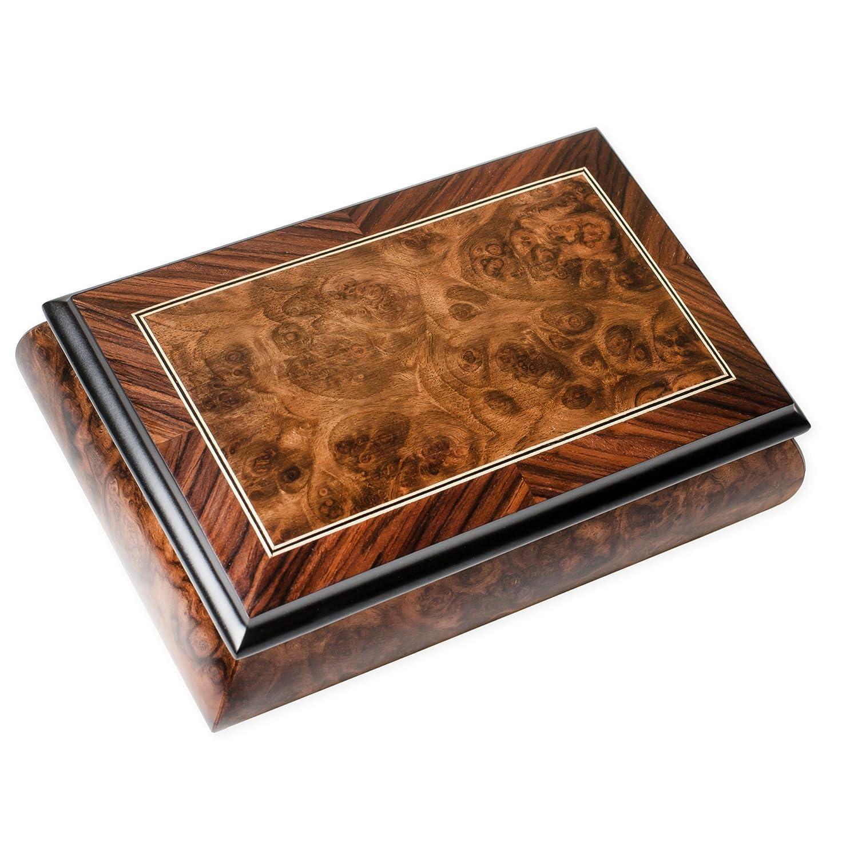 本物品質の ダブルBorder LineマットItalian Hand 3番 Minuet Crafted Inlaid ダブルBorder Elm Wood MusicalボックスPlays Tune Minuet 3番 B071ZQFTVS, Maqua-store:466c206c --- mrplusfm.net