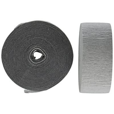 4 Rolls Crepe Paper Streamers 290 ft Total-Made in USA (Gray): Toys & Games