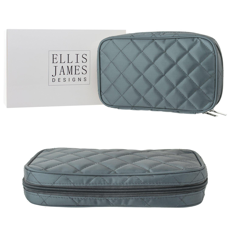 Trousse à bijoux - En tissu créme matelassée - Trousse rouleau bijoux rembourré doux (24, 4x15, 5x5cm) - D'Ellis James Designs ELJ0021