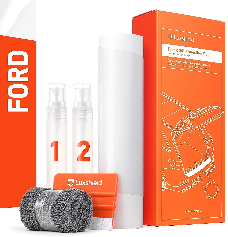 Luxshield Film de Protection pour Seuil de Chargement avec Racloir Professionnel Peinture Carbonique Autocollant Puma I 2019-2020 Pare-Chocs