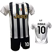 DND DI D'ANDOLFO CIRO Home Paulo Dybala 10 - Conjunto de fútbol, camiseta blanca y pantalón corto con número 10…