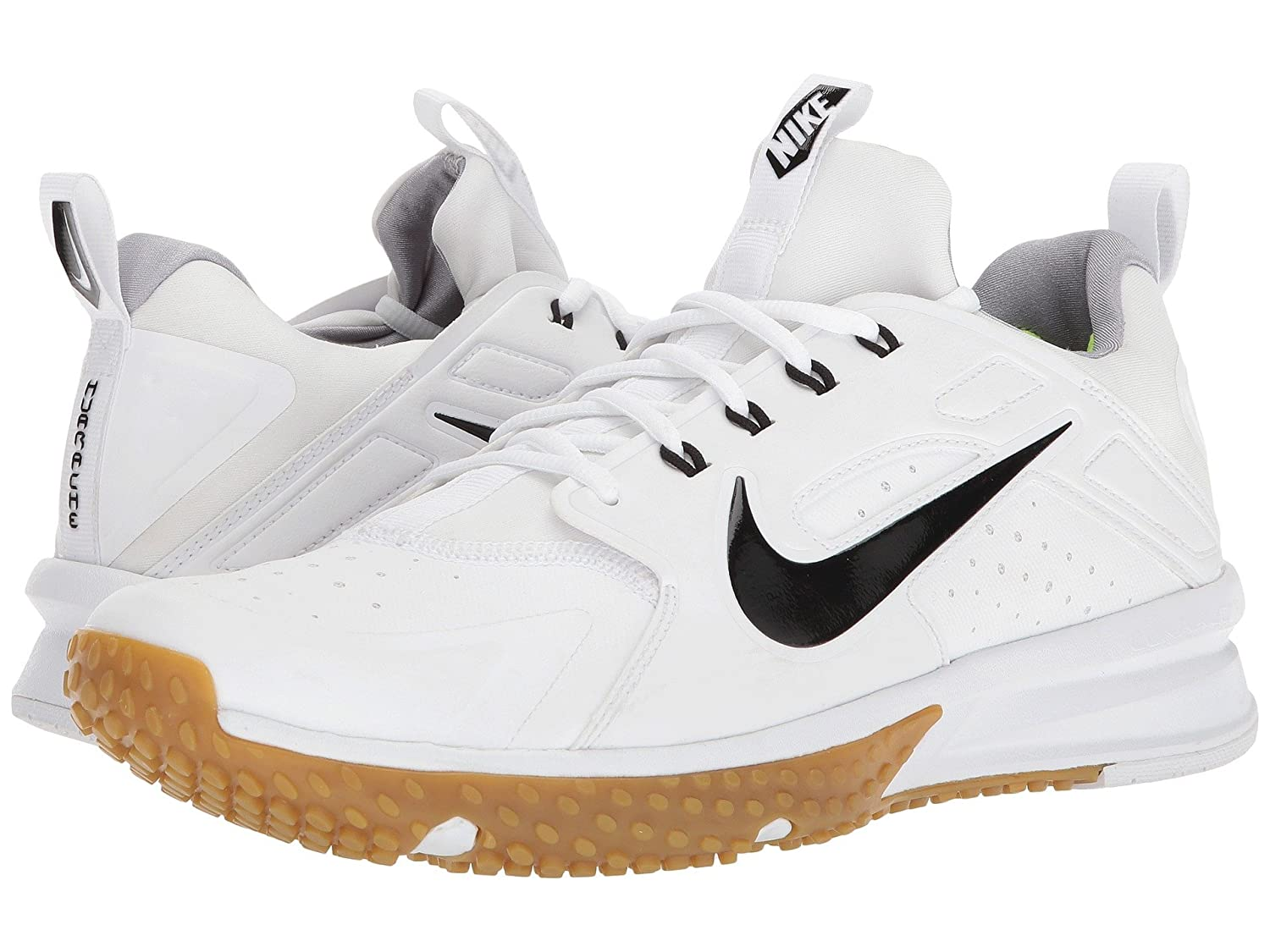 (ナイキ) NIKE メンズ野球ベースボールシューズ靴 Alpha Huarache Turf White/Black/Gum Light Brown/Wolf Grey 8 (26cm) D Medium B078Q1VS7P