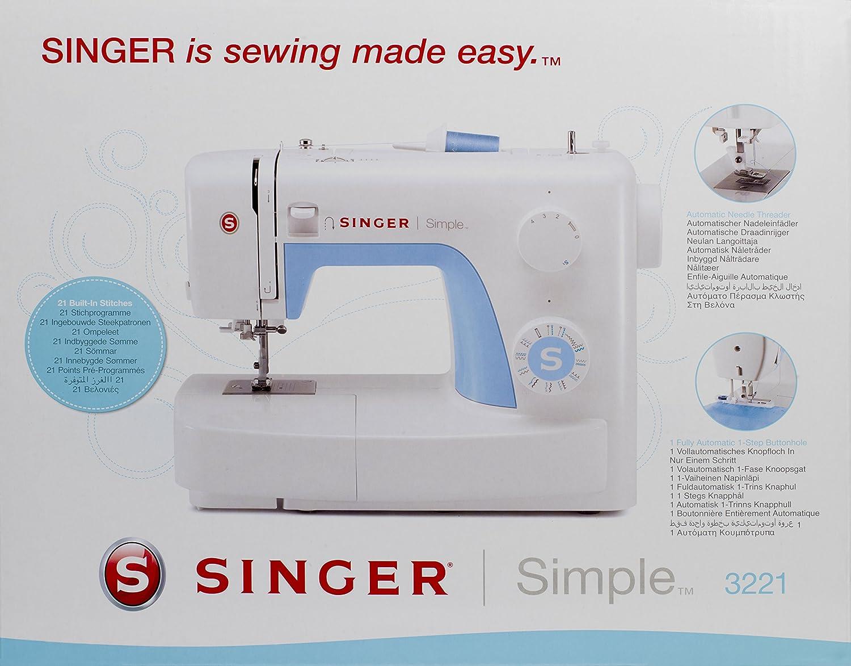 Singer 043224 Simple 3221 Máquina de Coser + Bolsa de Transporte ...