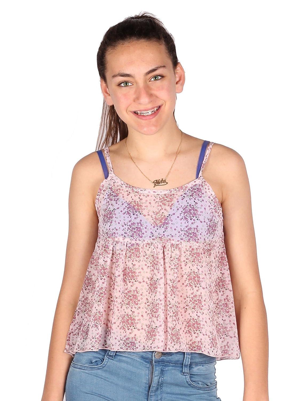Lori /& Jane Big Girls Black White Stripe Summer Trendy Cropped Tank Top 10-16