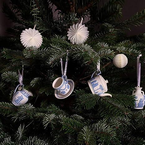 Wedgwood Christmas Ornaments 2019.Amazon Com Wedgwood 260th Anniversary Ornaments Teapot