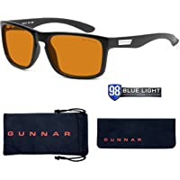 GUNNAR Gaming and Computer Eyewear /Intercept, Amber Max Tint - Patented Lens, Reduce Digital Eye Strain, Block 98% of Harmful Blue Light