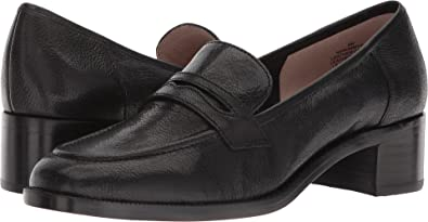 1d3214f64cb Nine West Women s Kimmy 40th Anniversary Heeled Loafer Black Leather 6.5 ...