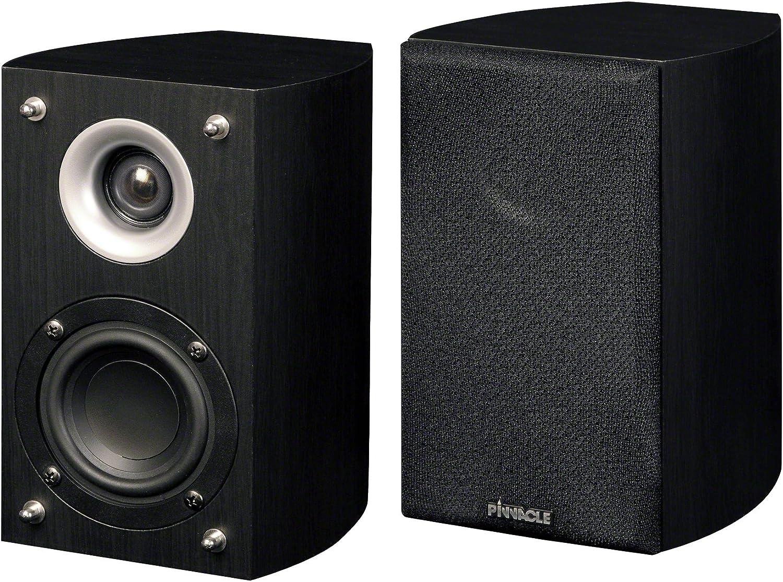 Pinnacle Speakers S-Fit SAT 150 2-Way Universal Satellite Speaker Each, Black