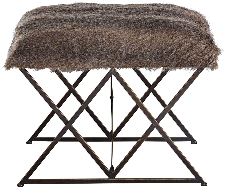 Miraculous Amazon Com Uttermost 23277 Brannen Plush Small Bench Black Uwap Interior Chair Design Uwaporg
