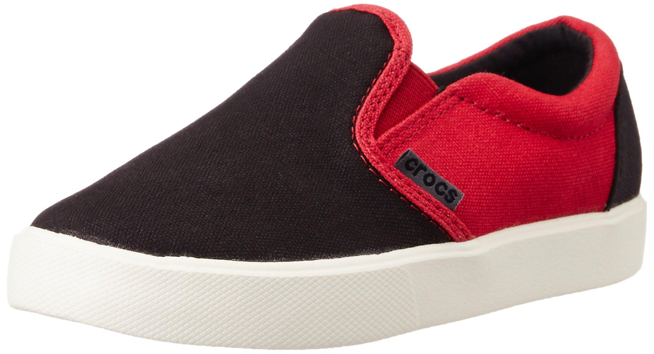 crocs CitiLane Sneaker Slip-On (Toddler/Little Kid), Black/Pepper, 12 M US Little Kid