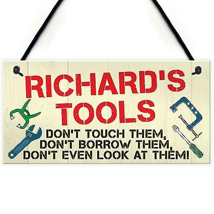 Rojo Ocean placa personalizable de herramientas normas Man Cave garaje cobertizo señal para colgar jardín divertido