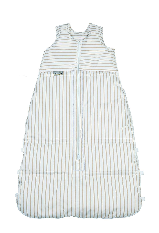 Climarelle Daunenschlafsack, längenverstellbar, Alterskl. älter 24 Monate, ocker Streifen, 130 cm