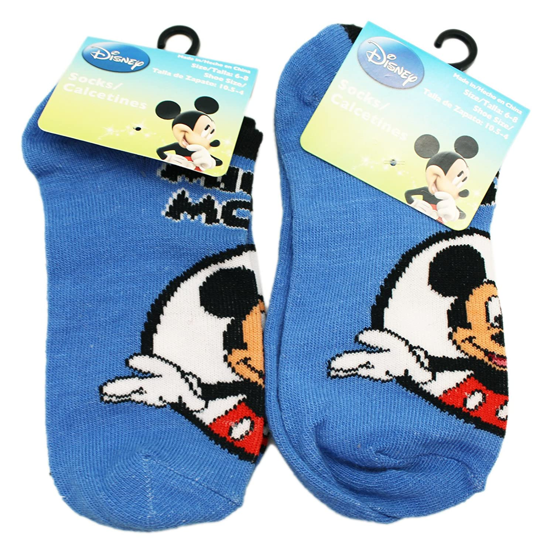Amazon.com: Disneys Mickey Mouse Circle Portrait Blue Kids Socks (Size 6-8, 2 Pairs): Clothing