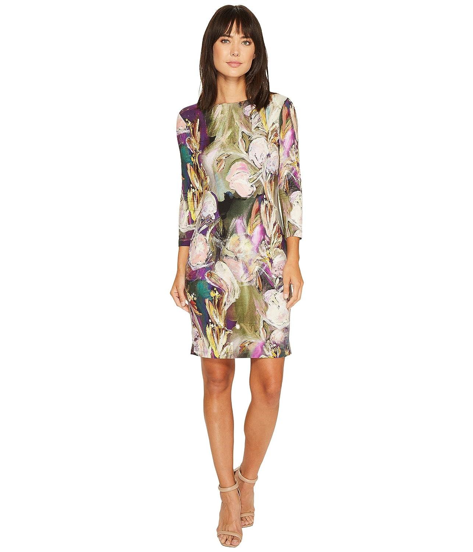 [カレンケーン] Karen Kane レディース Painted Floral Sheath Dress ドレス [並行輸入品] B074XS58R6 Large Print Print Large